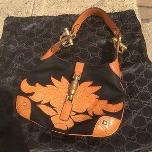 Gucci applique leather bag! Rare!